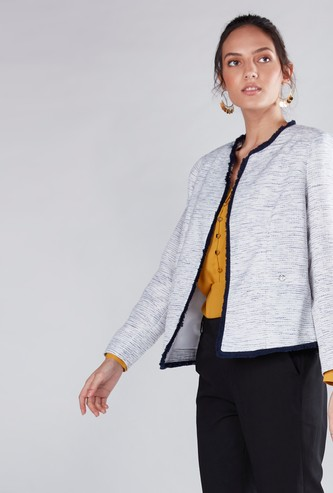 Long Sleeves Jacket with Button Detail