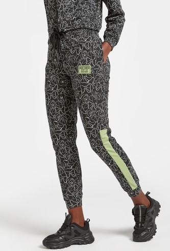 All-Over Minnie Mouse Print Jog Pants with Pocket Detail