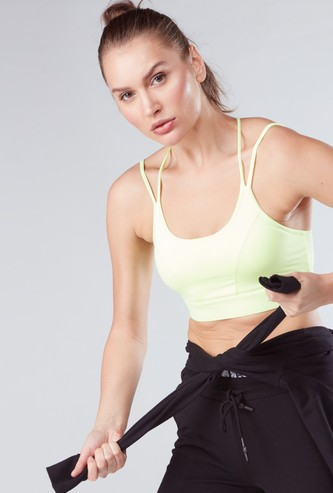 Sports Bra in Slim Fit with Scoop Neck