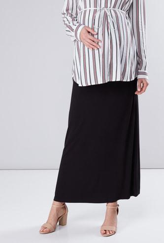 Maternity A-Line Maxi Skirt