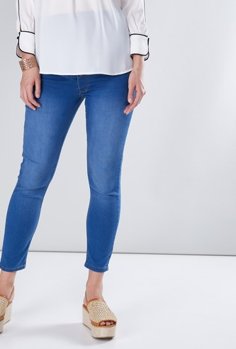 Maternity Full Length Jeans in Slim Fit with Pocket Detail