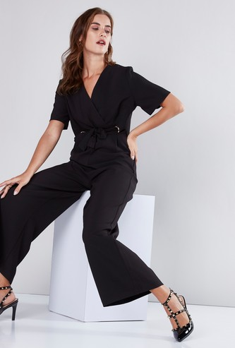 Wrap Style Jumpsuit with Tie Ups