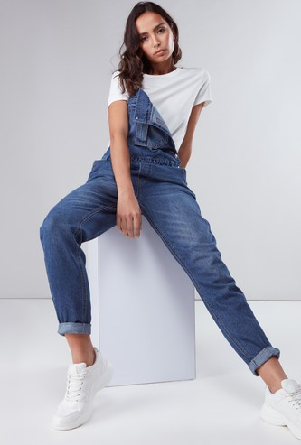 Pocket Detail Dungarees with Adjustable Straps
