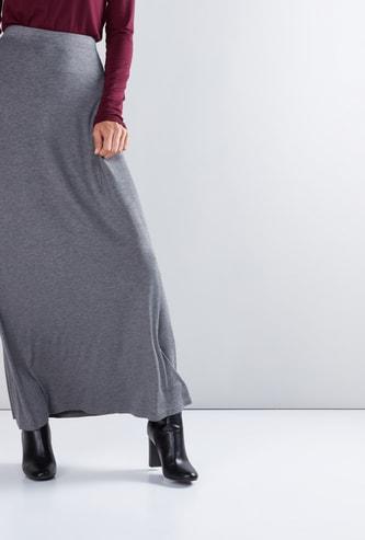 تنورة طويلة بخصر مطاطي
