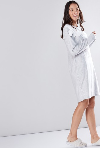 Applique Detail Sleep Dress
