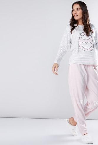 Printed Long Sleeves T-Shirt and Pyjamas Set