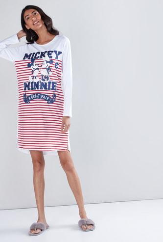 قميص نوم بنقش ميكي ماوس مطبوع