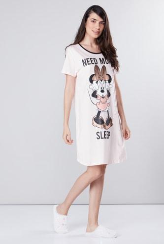 قميص نوم بطبعات ميني ماوس