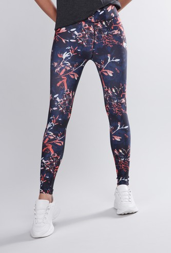 Slim Fit Printed Leggings with Elasticised Waistband