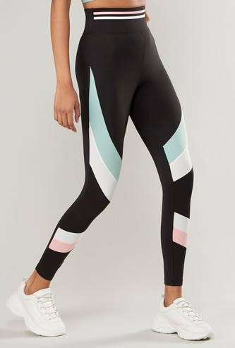 Slim Fit Leggings with Cut and Sew Panels