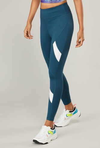 Full Length Leggings with Stripes and Elasticised Waistband