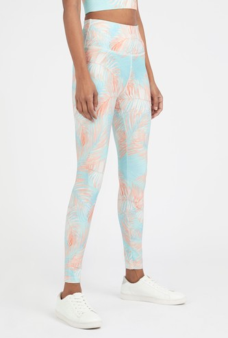 Slim Fit Full Length Printed Quick Dry Leggings