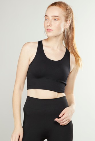 Slim Fit Sports Bra with Racerback