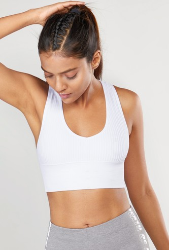 Solid Racerback Seamless Sports Bra