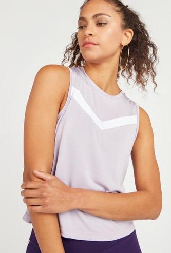Printed Round Neck Vest