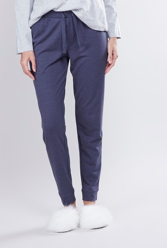Full Length Plain Jog Pants with Elasticised Waistband and Drawstring