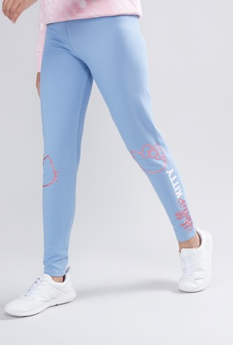 Hello Kitty Printed Jeggings with Elasticised Waistband