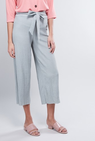 Crinkle Culottes with Tie Up