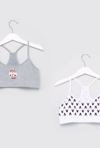 Set of 2 - Minnie Mouse Printed Seamless Bra