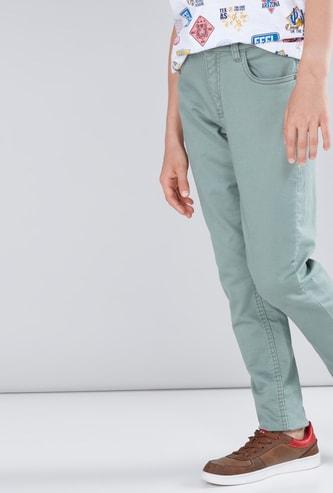 Pocket Detail Long Pants