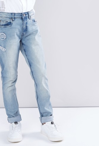 Full Length Jeans with Applique Detail
