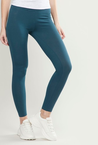 Full Length Leggings with Elasticised Waistband