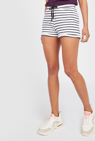 Striped Shorts with Elasticised Waistband