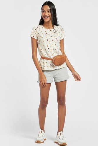 Mid-Rise Shorts with Drawstring