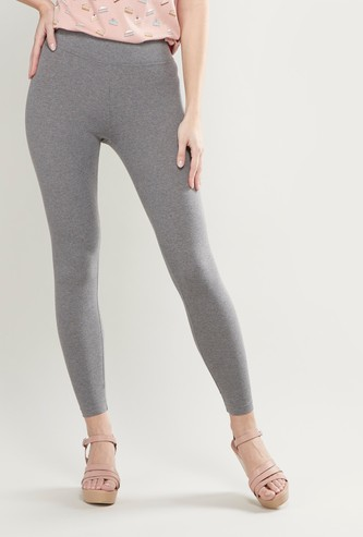 High Rise Full Length Leggings with Elasticised Waistband