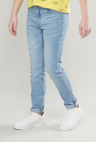 Pocket Detail Jeans with Rolled Up Hem