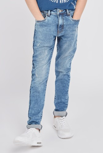 Distressed Jeans with Pocket Detail