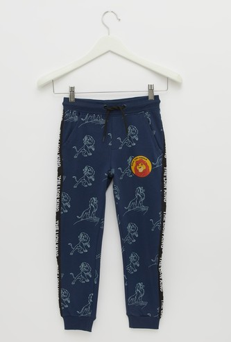 The Lion King Print Jog Pants with Pocket Detail and Drawstring