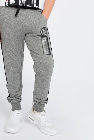 Avengers Print Joggers with Pockets and Drawstring Closure
