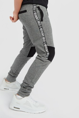 Textured Pants with Pockets and Elasticated Waistband