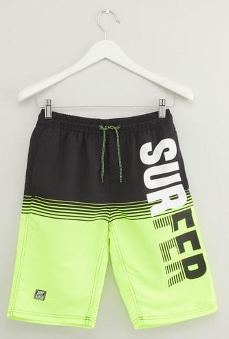 Printed Swim Shorts with Elasticised Waistband