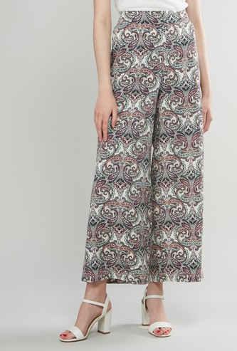 Printed Palazzos with Elasticised Waistband