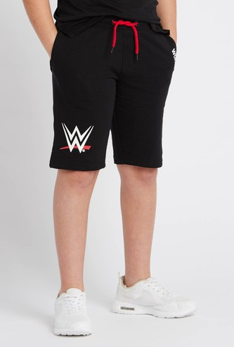 WWE Print Shorts with Pocket Detail and Drawstring