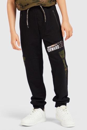Graphic Print Jog Pants with Pockets and Drawstring Closure