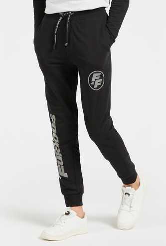 Fast & Furious Print Jog Pants with Pocket Detail