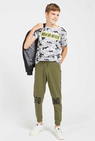 Graphic Print T-shirt and Jog Pants Set