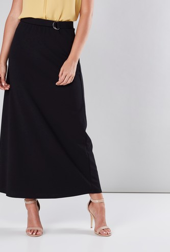 A-Line Skirt with Belt Detail