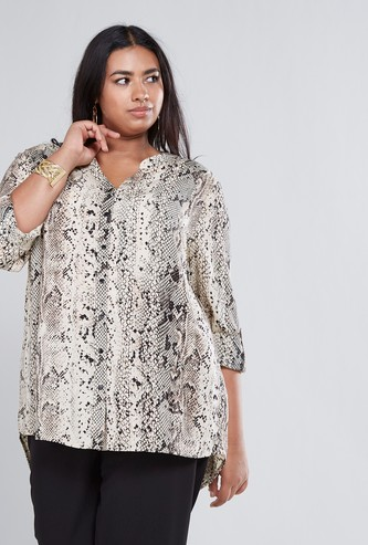 Regular Fit Animal Printed Shirt with Long Sleeves