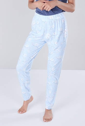 Floral Print Pyjamas with Elasticated Waist