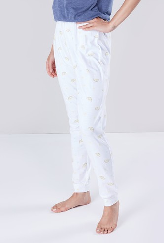 Printed Full Length Pyjamas with Elasticated Waistband