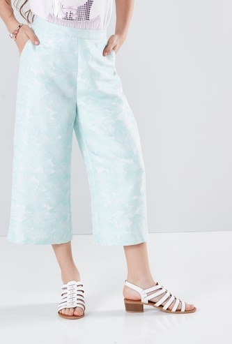 Printed Culottes with Pocket Detail and Elasticised Waistband