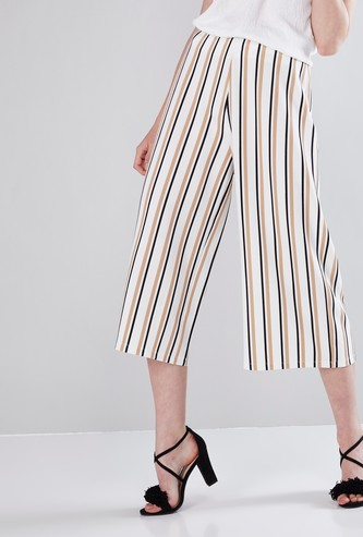 Striped and Textured Culottes