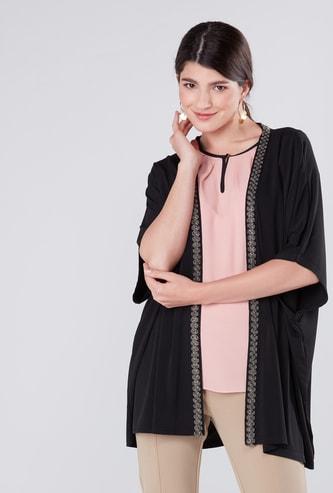 Embellished Kimono Shrug