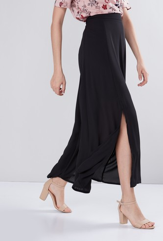 A-Line Maxi Skirt with Slit