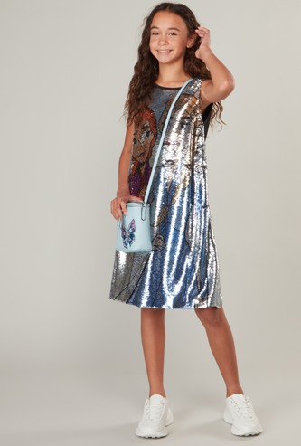 Frozen Sleeveless Sequin Detail Dress