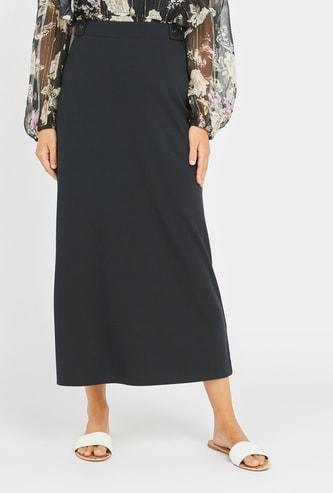 Textured Midi Skirt